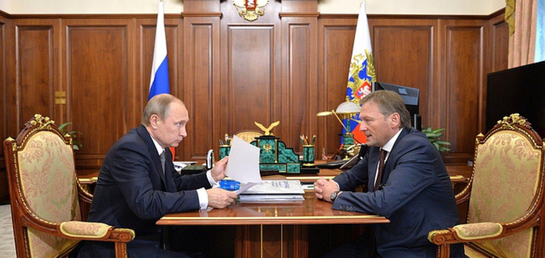 Уполномоченный по защите прав предпринимателей Борис Титов встретился с президентом Владимиром Путиным