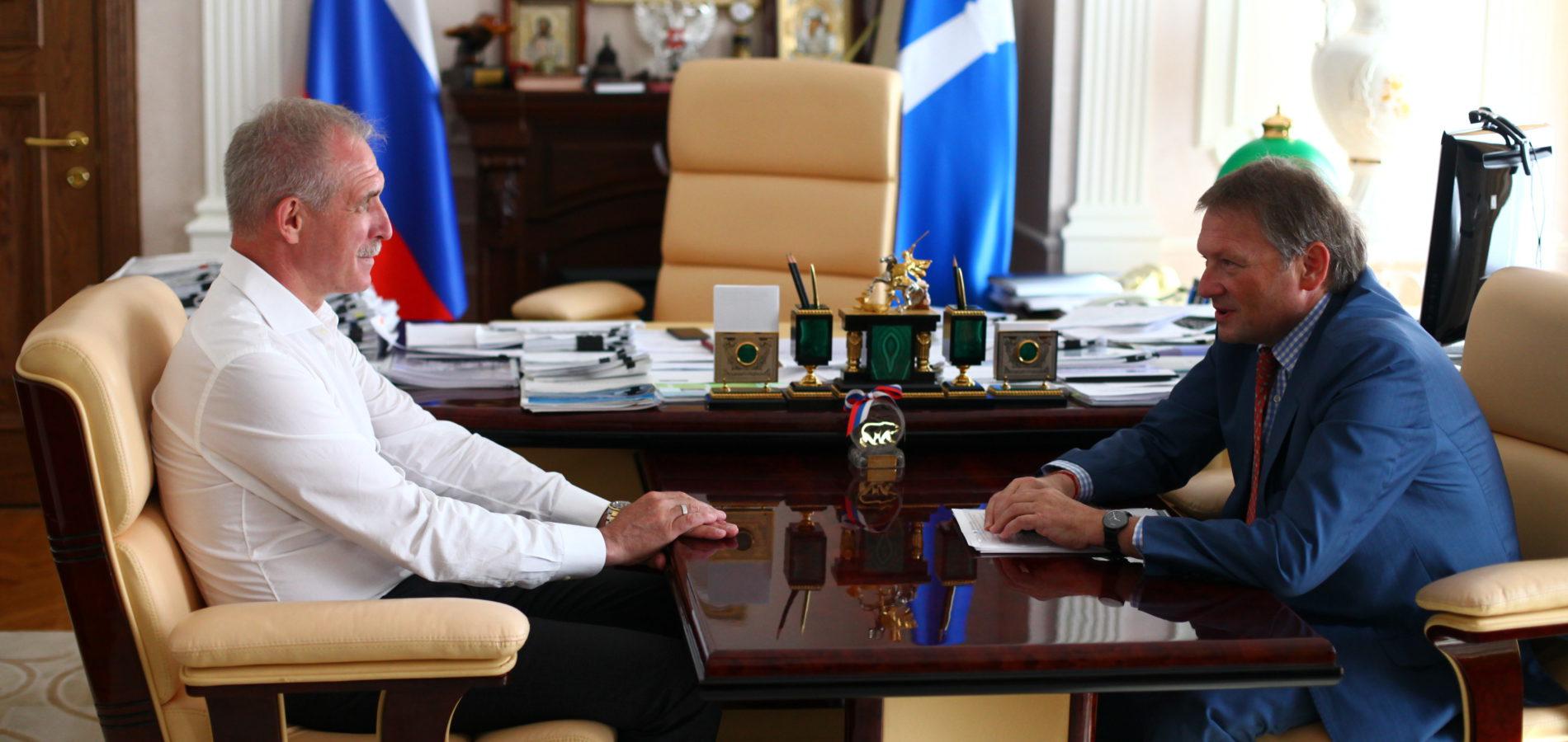 Бизнес-омбудсмен Борис Титов встретился с Губернатором Ульяновской области Сергеем Морозовым