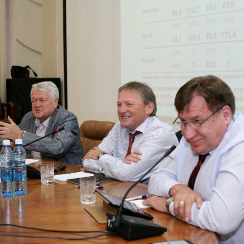 Борис Титов с членами Академии наук обсудил развитие высокотехнологичной экономики в Новосибирске
