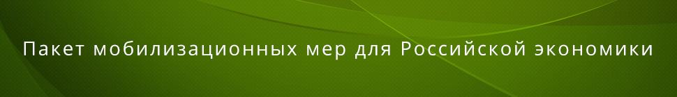 Пакет мобилизационных мер для российской экономики