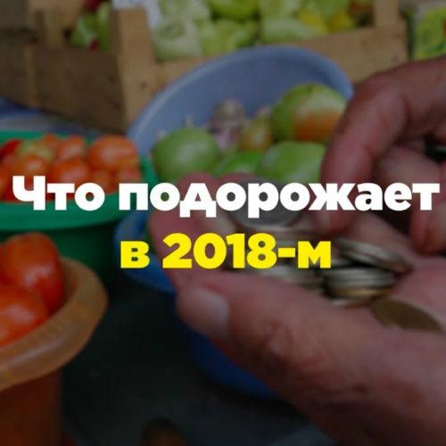 Что подорожает в России в 2018 году